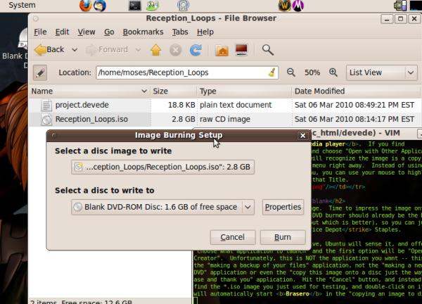HOWTO: use DeVeDe on Ubuntu
